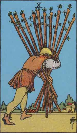 Ten of Wands Tarot card