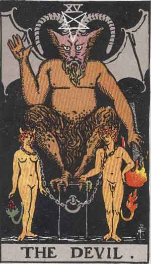 The Devil Tarot card