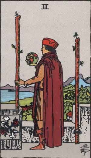 Two of Wands Tarot card