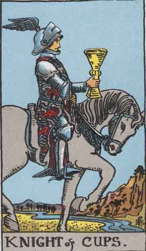 Knight of Cups Tarot card